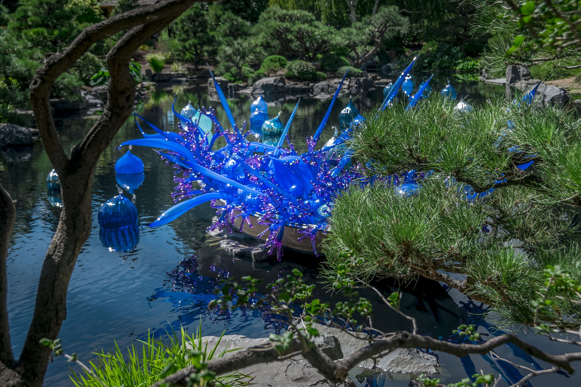 Chihuly Blue Boat 2.jpg -  by Dennis Rose