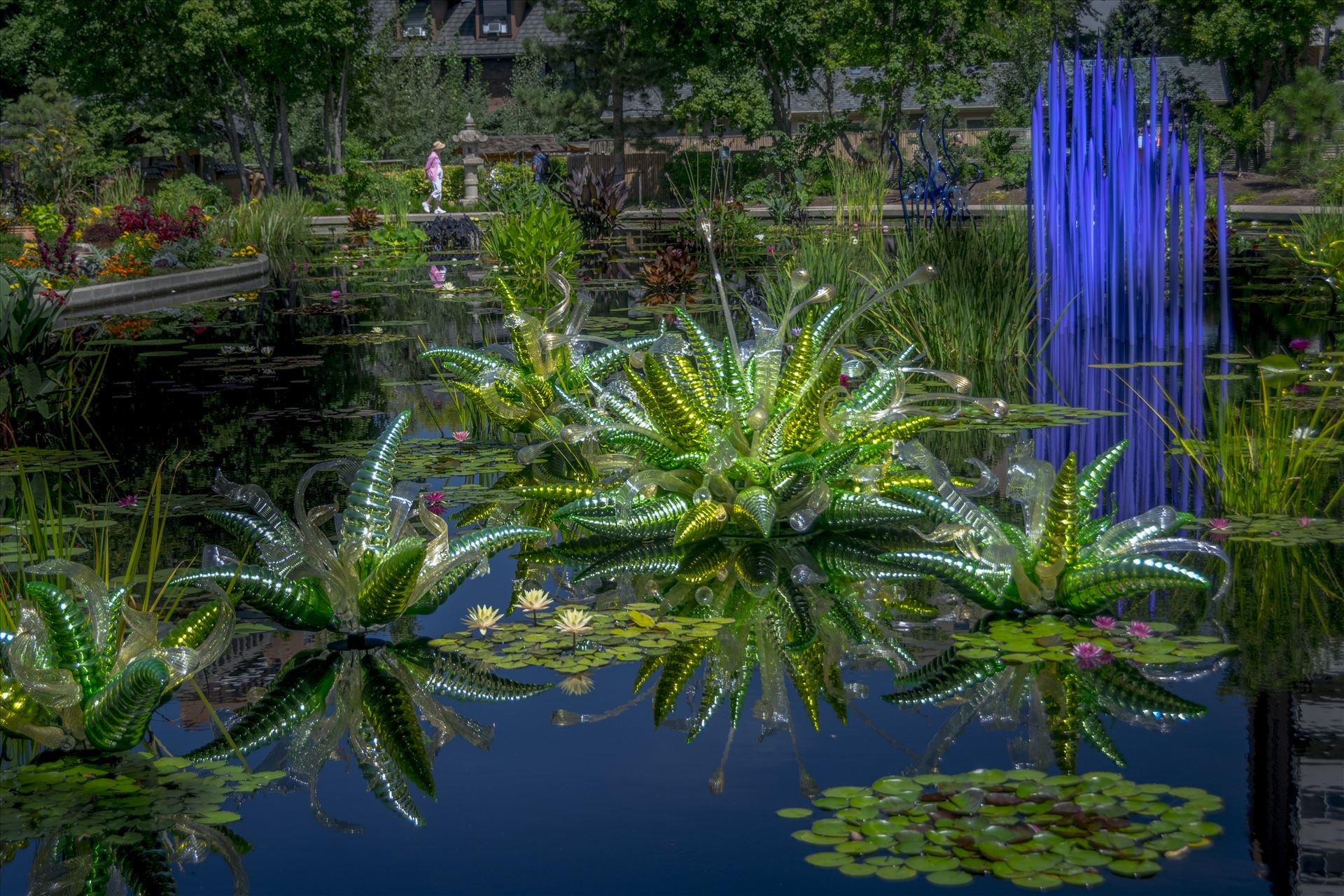 Chihuly Pond 2.jpg -  by Dennis Rose