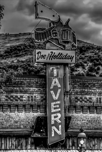 image.jpg - Doc Holiday Tavern, Glenwood Springs, CO in Black and White